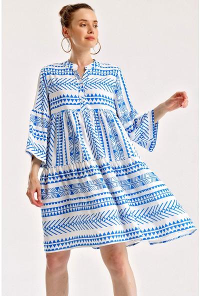 Bigdart 1975 Etnik Desen Elbise