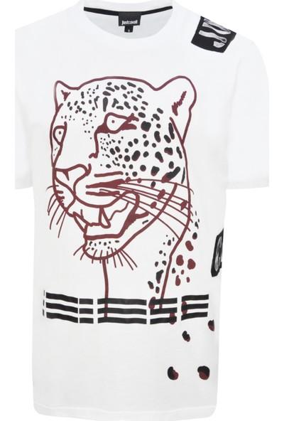 Just Cavalli Erkek Bisiklet Yaka T-Shirt Rn 154143 U002110 - Beyaz