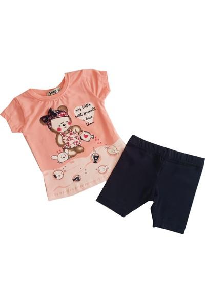 Piop Kalpli Ayıcıklı Kız Bebek Taytlı Takım 202031