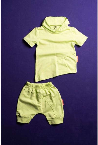 Moi Noi Asimetrik Unisex Bebek ve Çocuk Kısa Kol Şortlu Takım