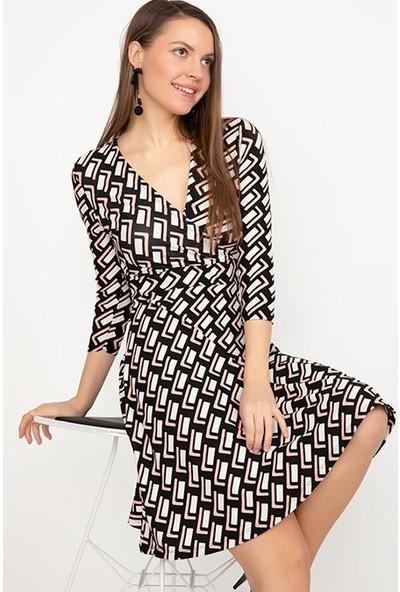 Anti Butik Kruvaze Yaka Elbise