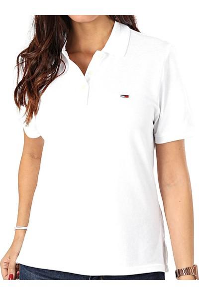 Tommy Hilfiger Kadın T-Shirt Dw0Dw07641-Ybr