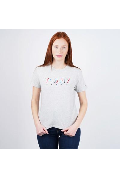 Tommy Hilfiger Kadın T-Shirt Dw0Dw08040-P01