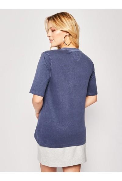 Tommy Hilfiger Kadın T-Shirt Dw0Dw08043-C87