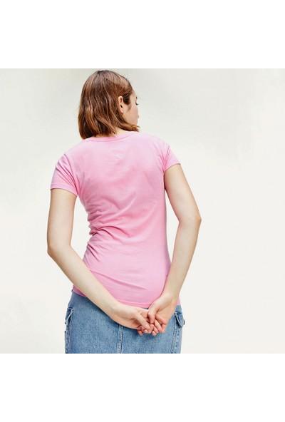 Tommy Hilfiger Kadın T-Shirt Dw0Dw08061-Tou