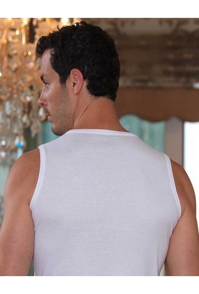 Şahinler Beyaz V Yaka Kolsuz Ribana Atlet 6'lı Paket ME033