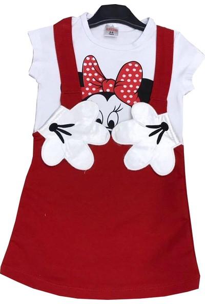 Harby Minnie Mouse Kırmızı Kız Elbise