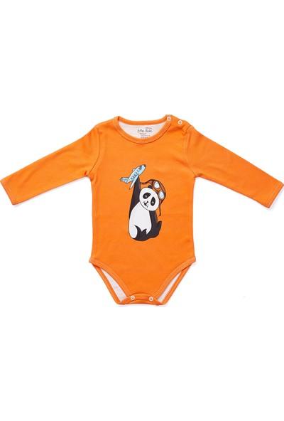 Erthe Bebe Mini Mu Organik Pamuklu Uzun Kol Body Çıtçıt Yaka