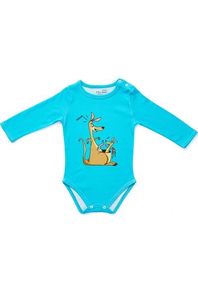 Erthe Bebe Alex Willie Organik Pamuklu Uzun Kol Body Çıtçıt Yaka