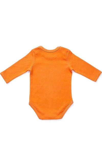 Erthe Bebe Mini Mu Organik Pamuklu Uzun Kol Body Zarf Yaka