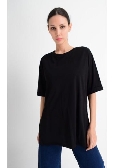 Cotton Mood 20021519 Pamuk Duble Kol Salash T-Shirt