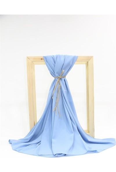 Medine Ipeği Şal SL043-BUZ Mavisi