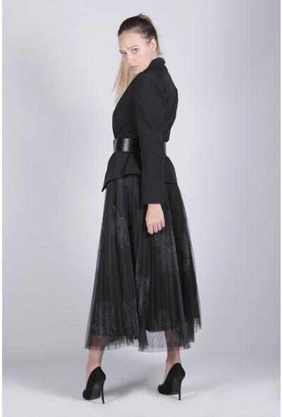 Ewa Moda Dijital Tütü Etek Ceket Kemer Takım