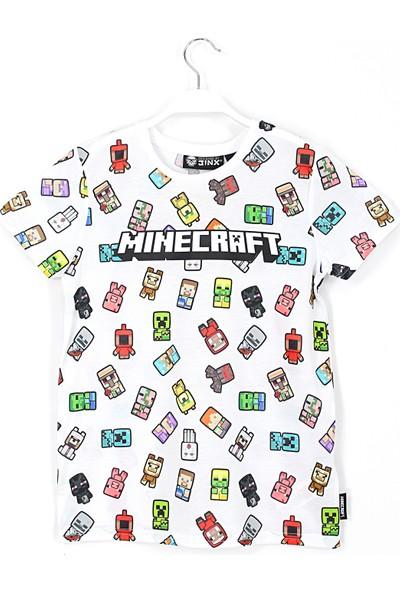Jinx 360 Derece Minecraft Baskılı Erkek Çocuk T Shirt 10 - 11 Yaş