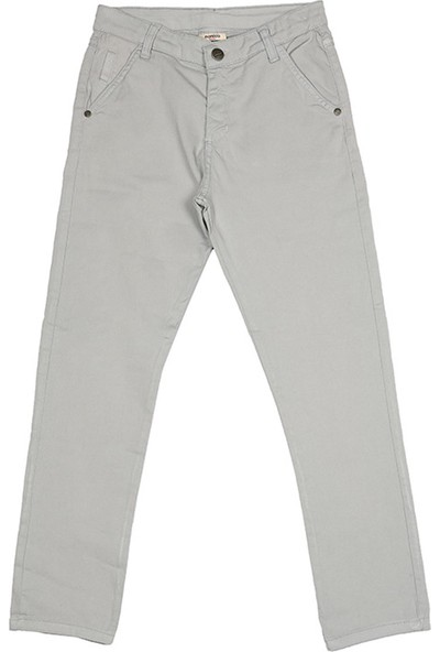 Nanica Basic Chino Erkek Çocuk Pantolon-Gri