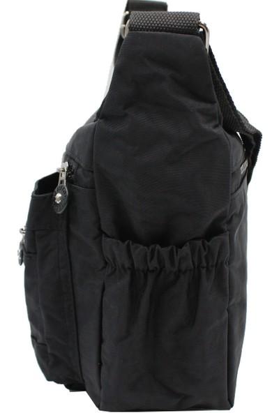 Bevıtton 3100 Krinkıl Kumaş Kadın Çapraz Çanta Siyah