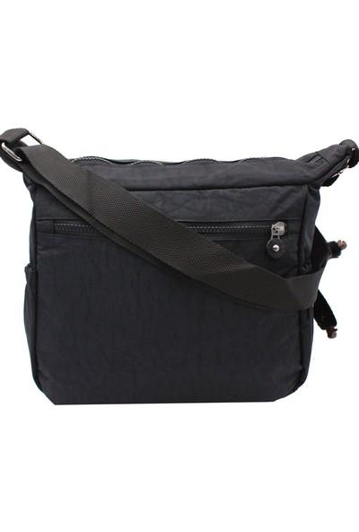 Bevıtton 4100 Krinkıl Kumaş Kadın Çapraz Çanta Siyah