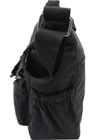 Bevıtton 4110 Krinkıl Kumaş Kadın Çapraz Çanta Siyah