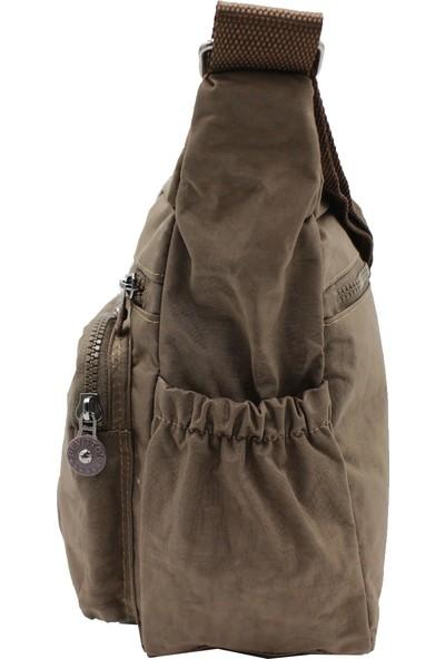 Bevıtton 4120 Krinkıl Kumaş Kadın Çapraz Çanta Vizon