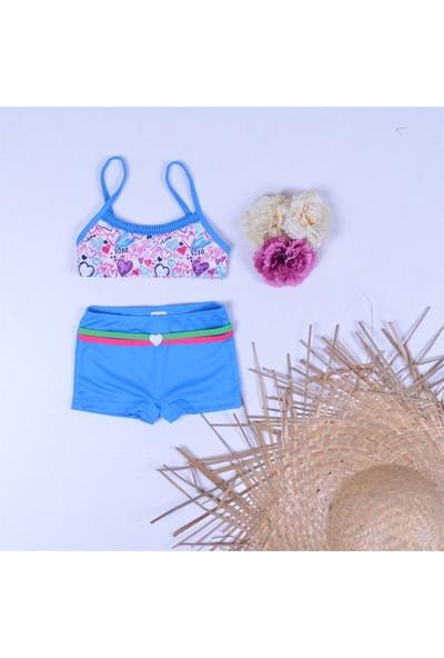 SAM Kız Çocuk Şortlu Bikini Mayo 23012