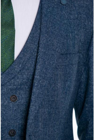 Suitmen Yelekli Takım Elbise Lacivert 1001K1391305