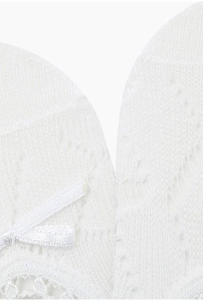 Bross File Babet Çocuk Çorabı Beyaz