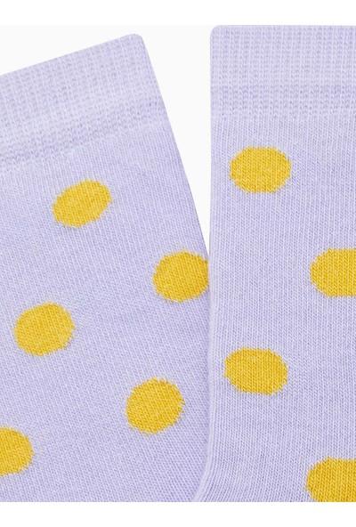 Bross Puanlı Çocuk Çorabı Lila