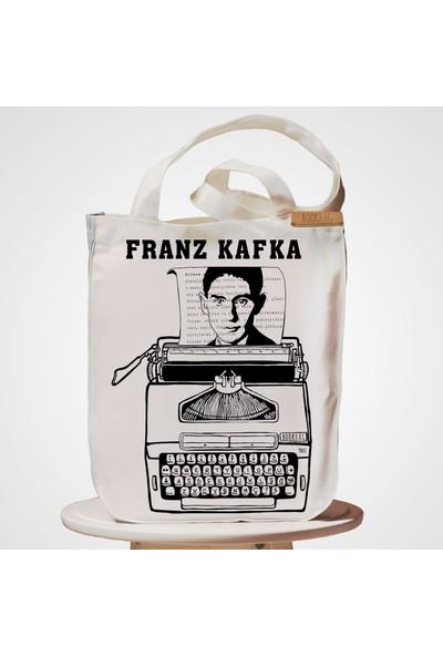 Bookbag Franz Kafka_Milena Doğal Keten Çanta