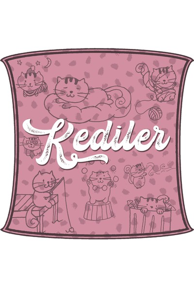 Bookbag Kediler Doğal Keten Çanta