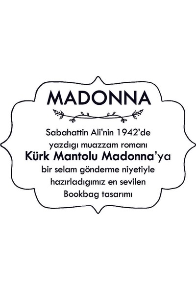 Bookbag Sabahattin Ali_Madonna Doğal Keten Çanta