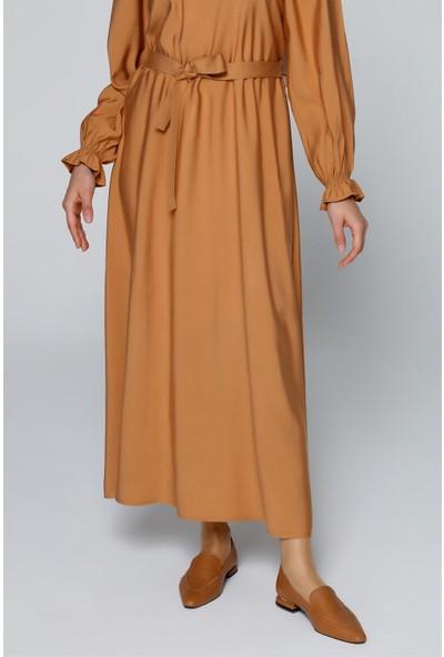 Armine Kemerli Kadın Günlük Elbise Toprak 20Y9153