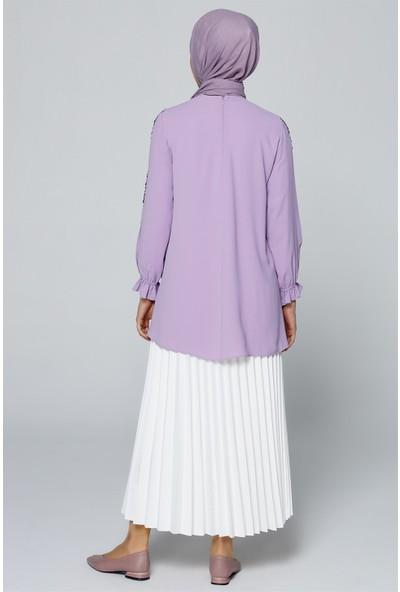 Armine Pulpayet Detaylı Bluz Lila 20Ya3821