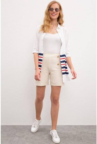 U.S. Polo Assn. Kadın Örme Şort 50219302-VR071