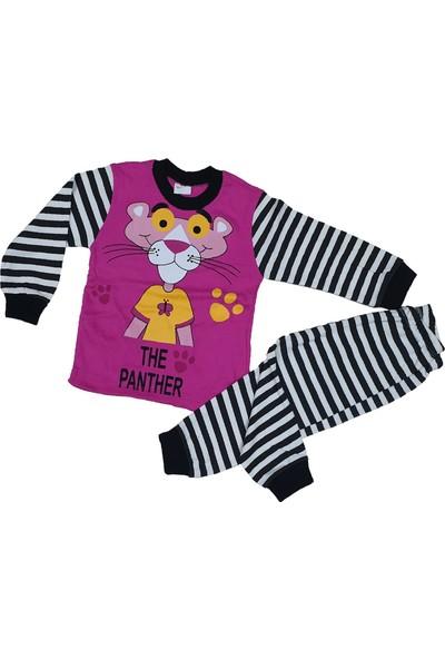 Süper Mini Pembe Panter Baskılı Pijama Takımı
