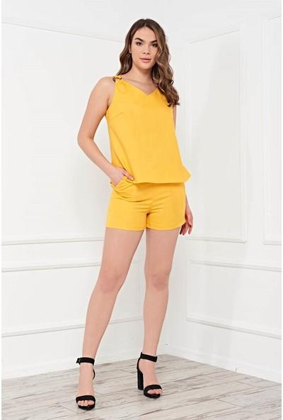 Arzu Gürbüz Kadın Bluz ve Short Serena Seti