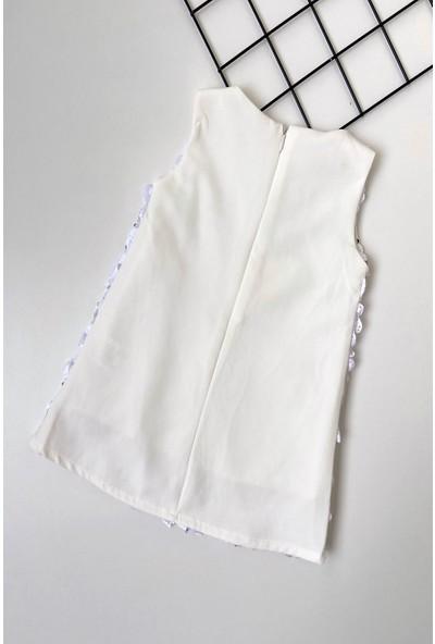 Colored Baby Kız Bebek Kelebek Lazer Kesim Pullu Elbise