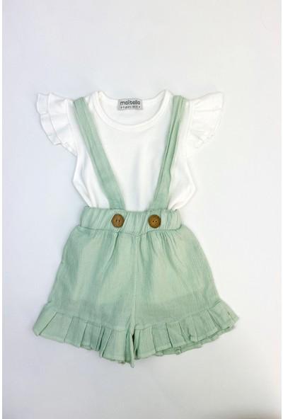 Colored Baby Kız Çocuk Askılı Şort Takım 2 Parça