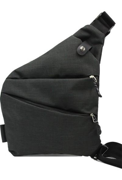 Newish Polo Body Bag Çapraz Sırt ve Göğüs Çantası Siyah
