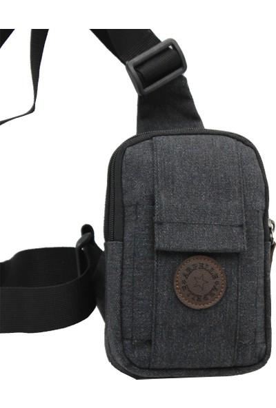 Arpelle 500 Body Bag Telefon Bölmeli Spor Çanta Siyah