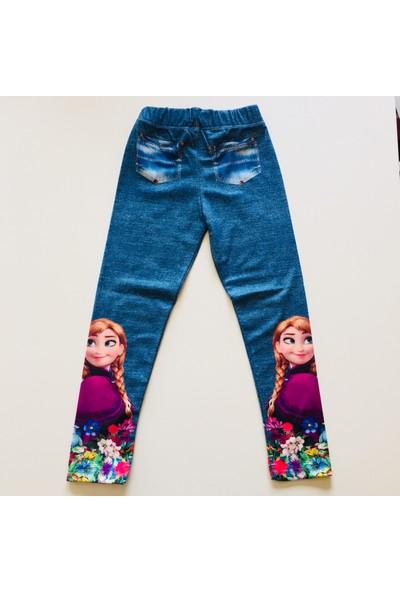 Elsa Anna Tshirt Tayt Kız Çocuk Penye Takım