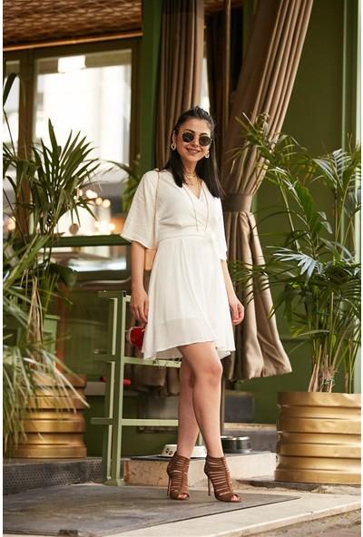 Seda Yalçın Atelier Quzu Beyaz Elbise