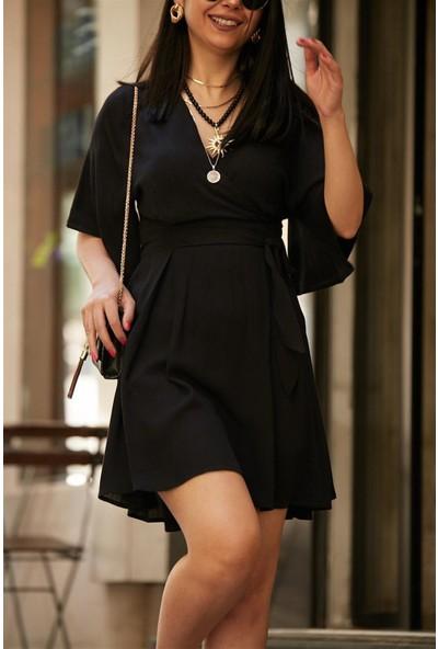 Seda Yalçın Atelier Quzu Siyah Elbise