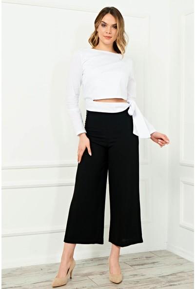 Arzu Gürbüz Kadın Bol Paca Yüksek Bel Mila Pantolon