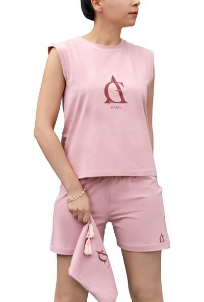 Arzu Gürbüz Kadın Çantalı Pijama Takımı