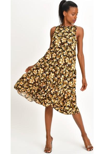Quincey Desenli Krep Elbise
