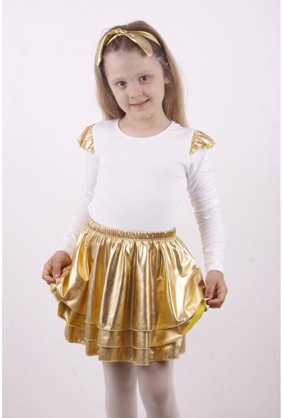 Toontoy Kız Çocuk Kol Detaylı Balerin Takımı