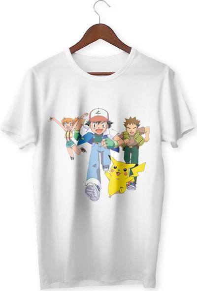 Vectorwear Pokemon Ash Ve Arkadaşları Çocuk Tişört
