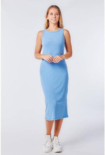 Coral 25049 Kaşkorse Elbise Mavi