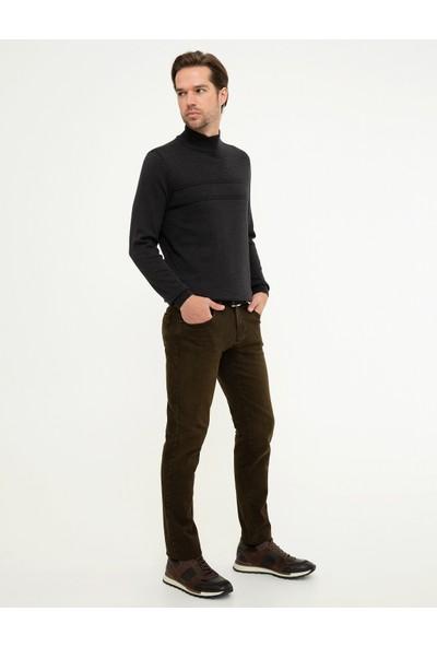 Pierre Cardin Erkek Kahverengi Denim Pantolon