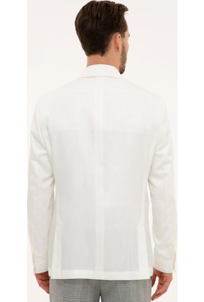 Pierre Cardin Erkek Ekru Slim Fit Ceket 50225548-VR019
